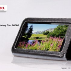 Husa Executive Case Piele Naturala Samsung Galaxy Tab2 P6200 by Yoobao Originala Black - Husa Tableta