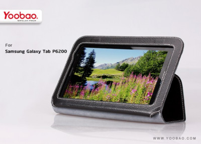 Husa Executive Case Piele Naturala Samsung Galaxy Tab2 P6200 by Yoobao Originala Black foto