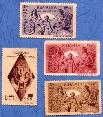 1942 1943 ajutorul de iarna+ consiliul de patronaj 4 timbre nestampilate foto
