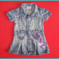 Rochie / rochita blugi, marca DOPODOPO _ fetite | 12 - 18 luni | 86 cm, Marime: Alta, Culoare: Albastru