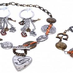 SET BIJUTERII GUESS 7 ARGINTATE - Set bijuterii handmade si fashion