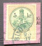 AUSTRIA VECHE - 5Kr PE FRAGMENT DE SCRISOARE