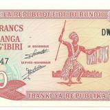 BURUNDI  BANCNOTA  20 FRANCI  UNC