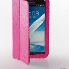 Husa Samsung Galaxy Note 2 N7100 Executive Piele Naturala by Yoobao Originala Pink, Roz, Toc