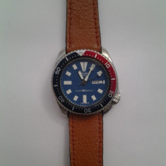 Vand Seiko automatic diver vintage, model 6309-7290 - Ceas barbatesc Seiko, Casual, Mecanic-Automatic, Inox, Piele, Ziua si data