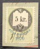 AUSTRIA VECHE - 15 Kr, PE FRAGMENT DE SCRISOARE
