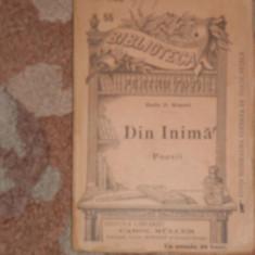 RADU. D. ROSETTI--DIN INIMA - poesii-1896-muller!!! - Carte veche