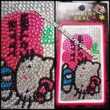FOLIE UNIVERSALA ACCESORII ORNAMENTE TELEFON MOBIL CELULAR PIETRE CRISTALE SWAROVSKI FIRMA HELLO KITTY CELL PHONE JEWELRY STICKER TELEFOANE MOBILE, Hello Kitty