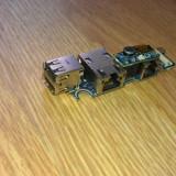 Modul porturi USB + mufa retea Dell Latitude D620 D630