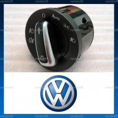 Bloc ( comutator faruri ) lumini ornament crom pentru VW Passat B6, CC, B7, Golf 5, Golf 6, Jetta, Tiguan, Touran, Caddy, Volkswagen