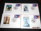 SET 4 CARTI POSTALE  LAIKA IN SPATUL COSMIC 1957-2007