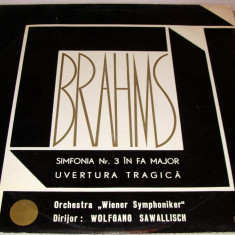 BRAHMS - Simfonia Nr.3 in Fa Major / Uvertura Tragica (VINYL) - Muzica Opera electrecord