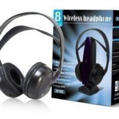CASTI WIRELESS 8in1 cu radio fm si microfon incorporat. CASTI IDEALE PENTRU COMPUTER, PE STRADA, ACASA. - Casti DJ