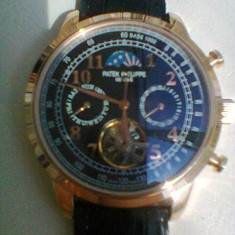 Vand ceas barbatesc PATEK PHILIPPE, Casual, Mecanic-Automatic, Piele, Analog