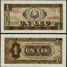 1 LEU 1966 UNC - Bancnota romaneasca