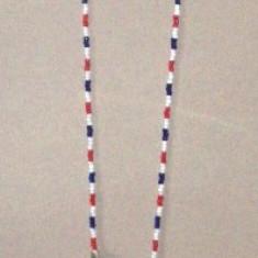 Neckles ros alb albastru fotbalist, lungime 70 cm
