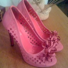 Pantofi Leonardo nr.37 - Pantof dama, Culoare: Roz, Roz