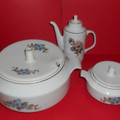 Supiera ,sosiera, ceainic Portelan, Made in Bulgaria  (Frumoasa,Veche,Vintage,Vechi)