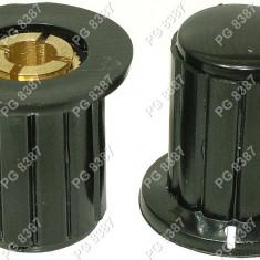 Buton plastic, negru-127007