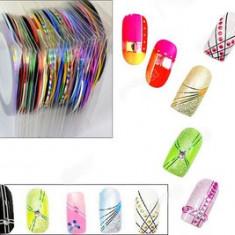 Banda decor unghii pentru kit unghii set 10 benzi decor unghii + CADOU Buffer - Model unghii