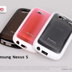 Husa TPU 2 in 1 + Folie Protectie Samsung Nexus S I9020 by Yoobao Originala Black - Husa Telefon