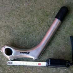 Zoom pipa cu nuca 25.4 mm 3 surub - Piesa bicicleta Zoom, Pipe ghidon