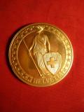 Medalie argint aurit -Eiger Monch Jungerfrau -Elvetia