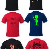Tricouri personalizate - Tricou barbati, Marime: M, L, XL, Culoare: Albastru, Negru, Rosu, Bumbac