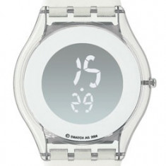 Vand ceas nou Swatch Skin Beat SIK118 - Ceas dama Swatch, Casual, Quartz, Piele, Electronic, Diametru carcasa: 34