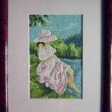 Goblen Fata la malul apei - Tapiterie Goblen