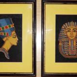 Set goblenuri / goblen Nefertiti si Tutankamon - Tapiterie Goblen