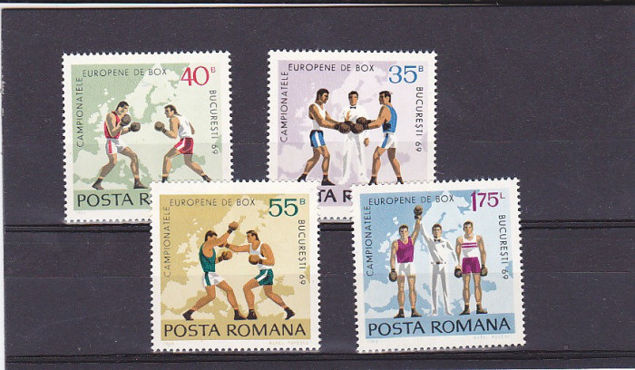Europenele de box,seria , Nr Lista 701, Romania.