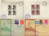 RRR   PLICURI SI C.P.  EXPOZITIA FILATELICA MEDIAS 1939 CU STAMPILA SPECIALA RARA