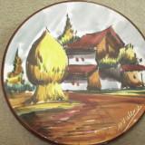 Farfurie DECO ceramica PICTATA (semnata) - suvenir ITALIA