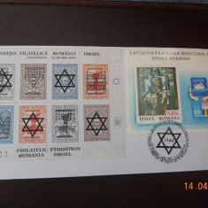 PLIC  EXP. FILATELICA ROMANIA-ISRALE SUPRATIPAR  CLUJ-NAPOCA 2000