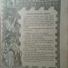 revista neamul romanesc 18 noiembrie 1907-poli. scocietatii agrare,nicolae iorga