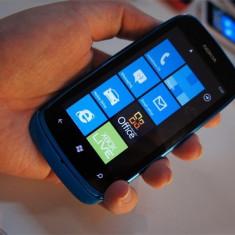 Vand Nokia Lumia 610 Cyan stare excelenta necodat - Telefon mobil Nokia Lumia 610, Albastru, Neblocat