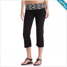 Pantaloni Trening GUESS - Pantaloni Trei Sfert Dama, Femei - 100% AUTENTIC, Negru, M, S, Bumbac