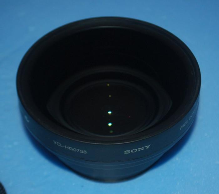 lentila wide Sony VCL-HG0758 foto mare