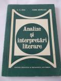 ANALIZE SI INTERPRETARI LITERARE - G. G. Ursu