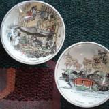 SET farfurioare de ceramica pictata - suvenir SINGAPORE