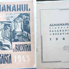 Almanahul Basarabia si Bucovina, 1943, Ion Antonescu, Frontul din Est - Carte Editie princeps