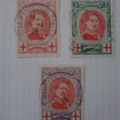 Belgia 1915 Crucea Rosie serie stampilata cota 90 euro