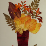 Tablou flori presate uscate handmade - Pictor strain, Natura, Pastel, Altul