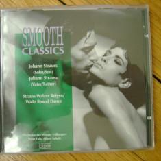 Album CD Smooth Classics compilatie Johann Strauss fiul si tatal Orchestra Viena 75 minute muzica clasica classic waltz vals polka Dunarea Albastra