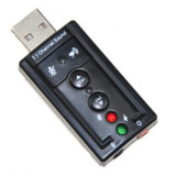 Placa de sunet pe usb (7.1 audio sound card adapter usb to 3d virtual ch 2.0