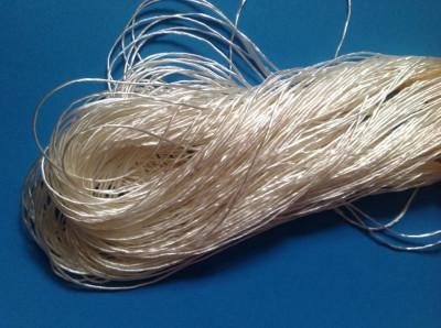 Fir de matase vegetala de crosetat sau tricotat - alb -  fir gros - 25 gr foto