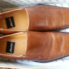 Vand pantofi piele maro Louvre - Pantof barbat, Marime: 44, Piele naturala