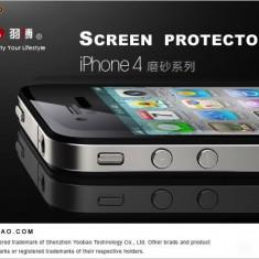 Folie iPhone 4 4S Fata Spate Mata by Yoobao made in Japan Originala - Folie de protectie