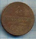 178 MONEDA VECHE - AUSTRIA - 1 KREUZER - anul 1851 B -starea care se vede